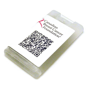 Hand Sanitizer Credit Card Sprayer with QR Code