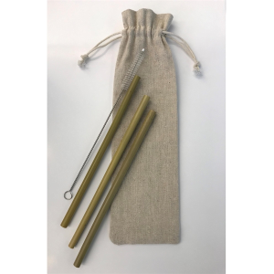 Bamboo Straw Set